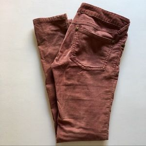 Dusty rose corduroy jeans